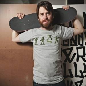 Khaki Kickflip T-Shirt