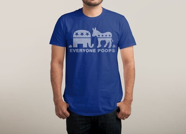 EVERYONE POOPS Blue T-Shirt