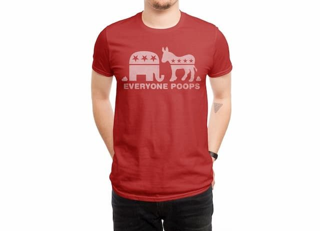 EVERYONE POOPS Red T-Shirt