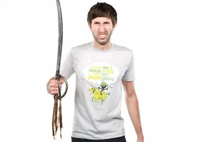 Imagine me, a Ninja Pirate, riding atop a zombie unicorn... T-Shirt