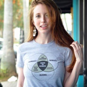 Zombies, Robots, and Aliens Venn Diagram T-Shirt