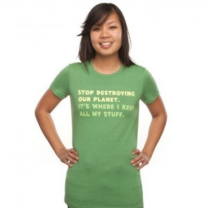 Stop destroying our planet. It's where I keep... T-Shirt