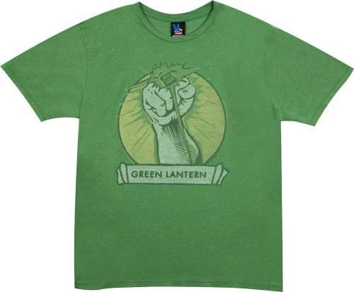 Fist Green Lantern T-Shirt by Junk Food