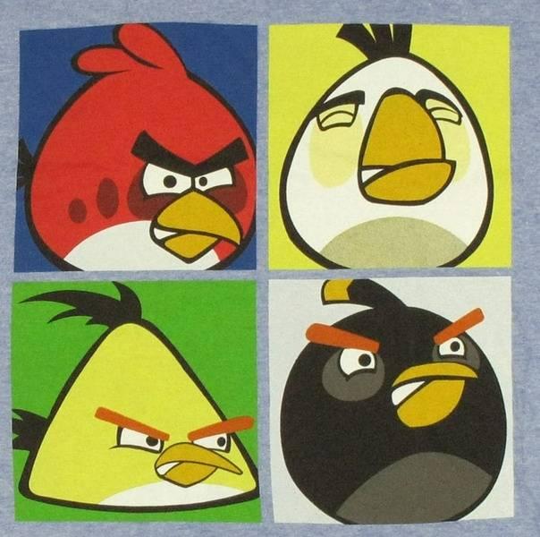 Angry Birds Pop Art T Shirt