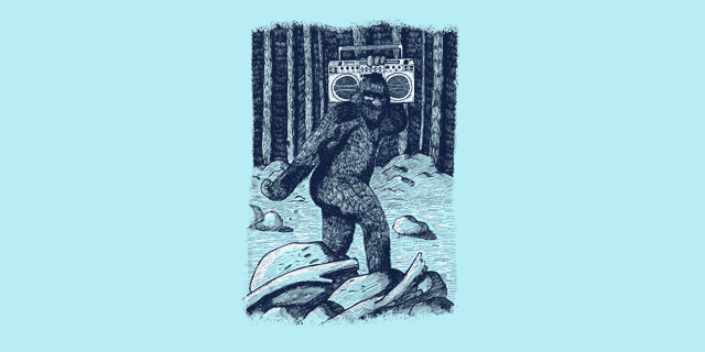 Bigfoot Boombox graphic T-Shirt