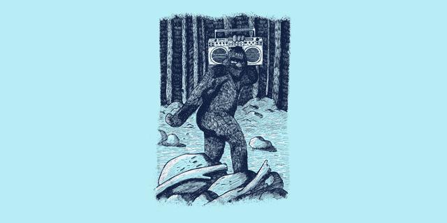 Bigfoot Boombox graphic T-Shirt