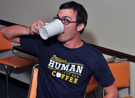 Instant Human Just Add Coffee T-Shirt