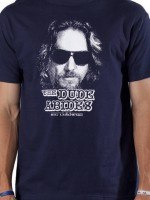 Navy Dude Abides Big Lebowski T-Shirt