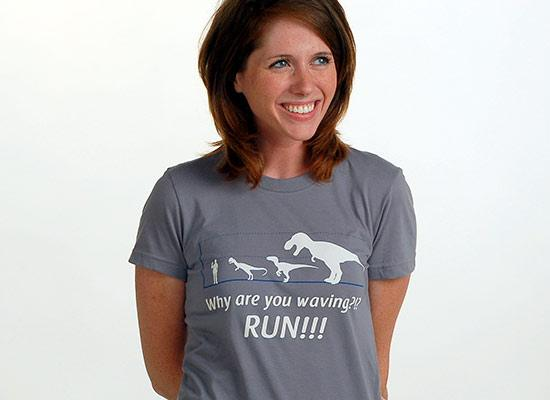 Why Are You Waving? Run! T-Shirt