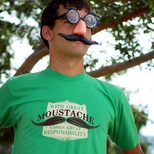 With Great Moustache T-Shirt