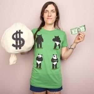 Bank Robbery Bear T-Shirt