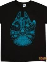 Blue Millennium Falcon T-Shirt