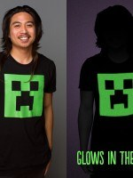 Minecraft Creeper Glow in the Dark Face T-Shirt