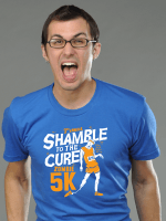 Shamble To The Cure Zombie 5K T-Shirt
