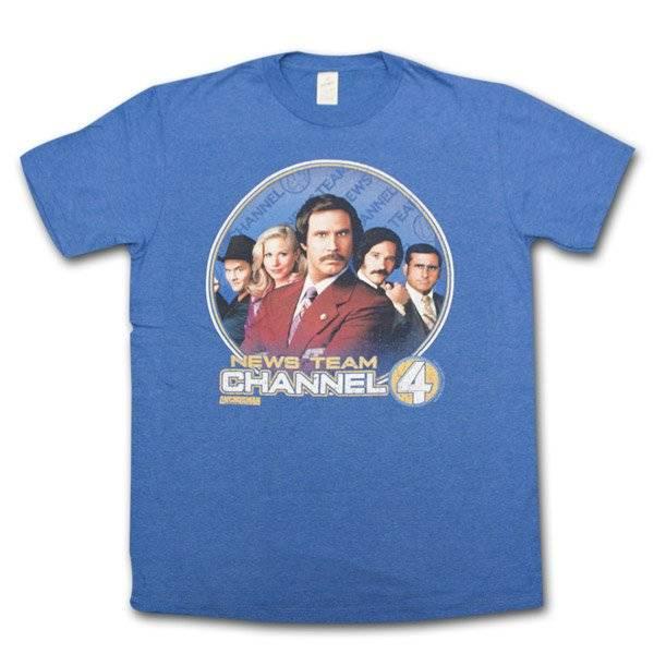 Anchorman News Team Channel 4 T-Shirt