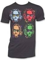 The Big Lebowski Four Faces Colors T-Shirt