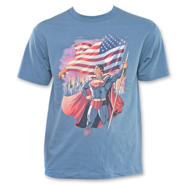 Superman American Flag T-Shirt