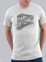 Some Game Involving Falling Blocks In The Style Of M.C. Escher T-Shirt