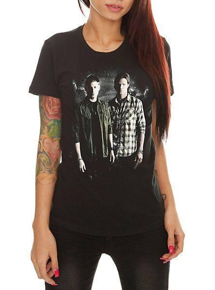 Supernatural Winchester Brothers Girls T-Shirt