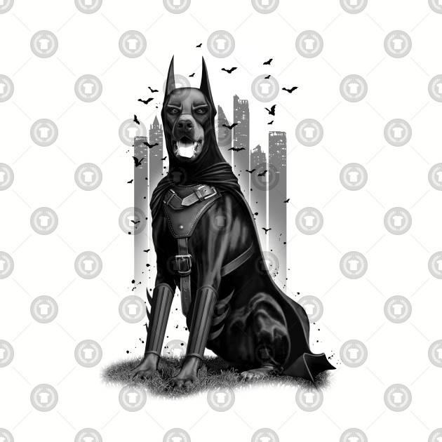 Batman Doberman Mashup