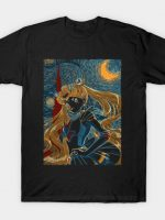 Usagi and the Starry Night T-Shirt