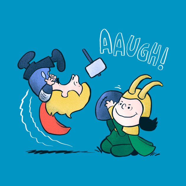 Thor and Loki in Peanuts Style