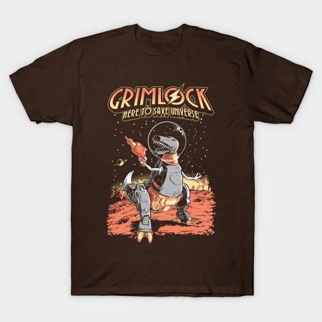 Space Pulp Robot Dinosaur T-Shirt
