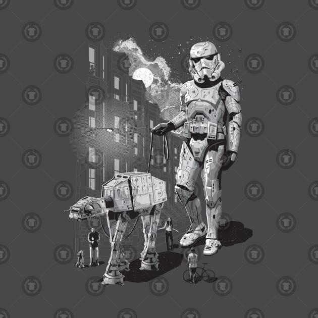 Stormtrooper and At-At