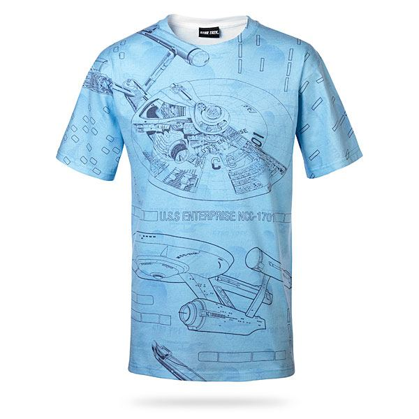 Blue Print Star Trek T-Shirt