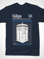 TARDIS SERVICE AND REPAIR MANUAL T-Shirt