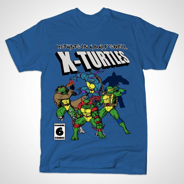 X-TURTLES MUTANTS IN A HALF SHELL