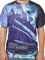 Edward Scissorhands Poster Sublimation T-Shirt