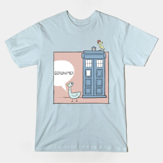 DON'T LET THE PIGEON DRIVE THE TARDIS Blue T-Shirt