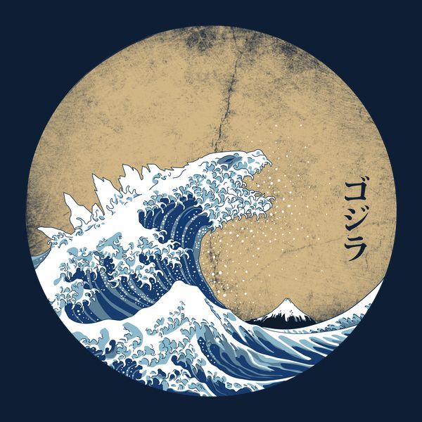 Hokusai Kaiju - Vintage Version