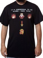 Its Dangerous Zelda T-Shirt