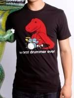 Worst Drummer Ever Dino T-Shirt