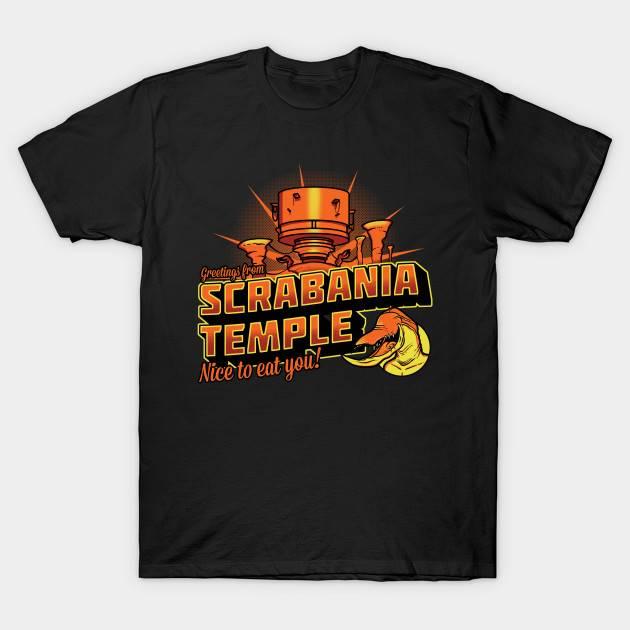 Oddworld Greetings From Scrabania temple T-Shirt