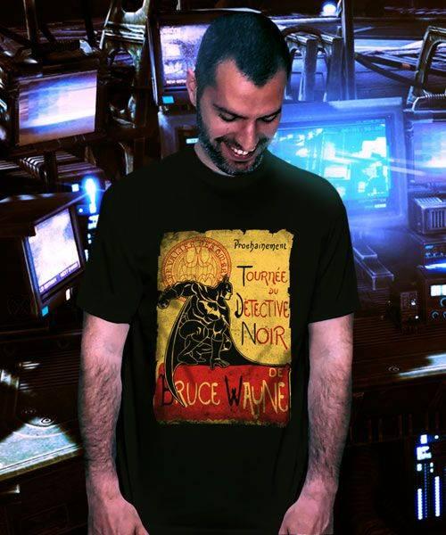 Tournée du Détective Noir T-Shirt