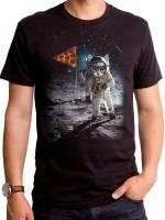 Ballin Pizza Space Cat T-Shirt