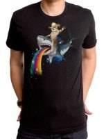 Bucking Sharkaroo Puking Rainbow T-Shirt