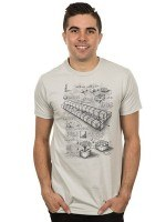 Minecraft Blueprint TNT Cannon T-Shirt