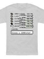Choose a direwolf T-Shirt