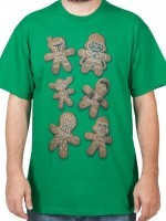 Gingerbread Star Wars Characters T-Shirt