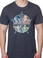Four Heroes Justice League T-Shirt
