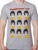 Moods Of Tina Bobs Burgers T-Shirt