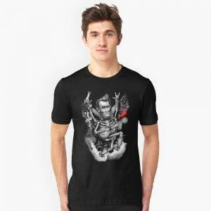 Rock N Roll Lincoln Drawing T-Shirt