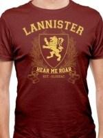 Lannister University (Gold) T-Shirt