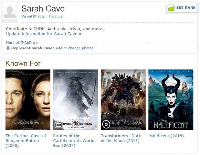 Sarah Cave on IMDb