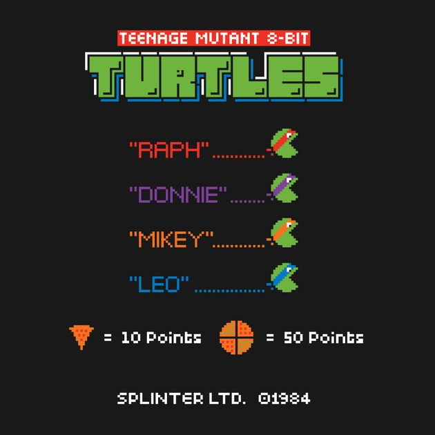 TEENAGE MUTANT 8-BIT TURTLES