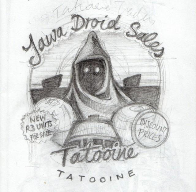 Jawa Droid sketch